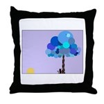 Syd and the Blueberry Tree Throw Pillow
