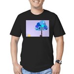 Syd and the Blueberry Tree Men's Fitted T-Shirt (d