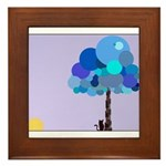 Syd and the Blueberry Tree Framed Tile