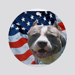 American Pit Bull Ornament (Round)