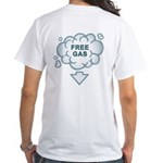 Fuel Crisis Solved; Free Gas White T-Shirt