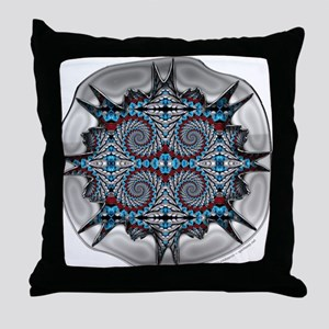 Shadowbox Fractal Throw Pillow