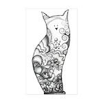 Ocean Cat Rectangle Sticker 10 pk)