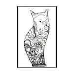 Ocean Cat Mini Poster Print