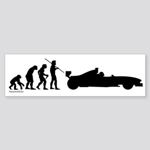 Race Car Evolution Bumper Sticker (10 pk)