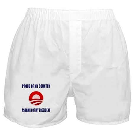 Ashamed Of Obama Boxer Shorts
