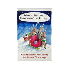 What reindeer do... Rectangle Magnet
