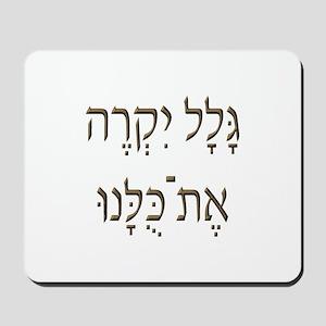 Sh*t Happens (Hebrew) Mousepad