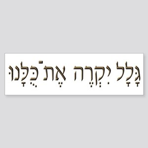 Sh*t Happens (Hebrew) Bumper Sticker