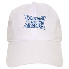 https://i3.cpcache.com/product/402147080/dives_well_with_others_baseball_cap.jpg?side=Front&color=White&height=240&width=240