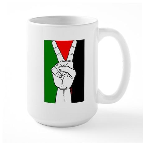 Victory fo Palestine Large Mug