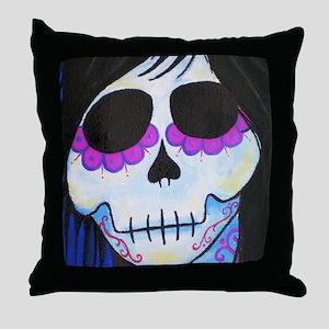 Elixer Sugar Skull Throw Pillow