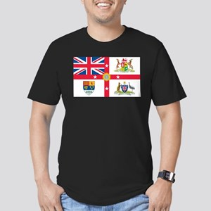 British Empire Flag Men's Fitted T-Shirt (dark)