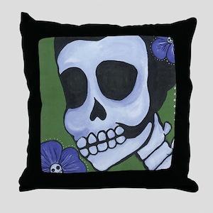 Flower in Blue Throw Pillow