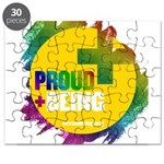 Proud Being Rainbow Yellow Circle Puzzle