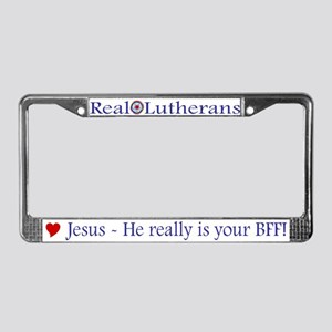 Jesus Your BFF License Plate Frame