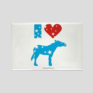 I Love Democrats - Rectangle Magnet