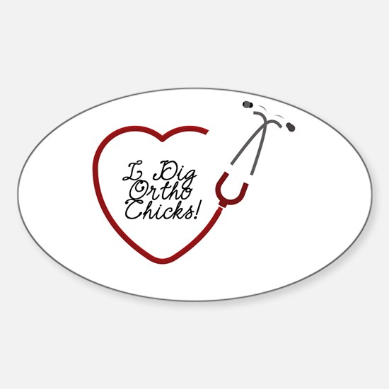 Ortho Chicks Oval Decal