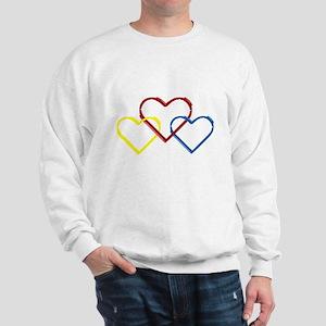 Heart Logo White Sweatshirt