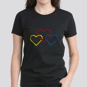 Heart Logo White Women's Dark T-Shirt