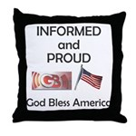 Informed and Proud Throw Pillow