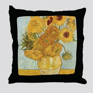 vincent-sunflowers Throw Pillow