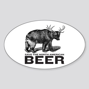 Save Beer Oval Sticker