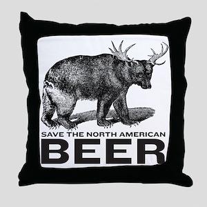 Save Beer Throw Pillow