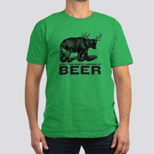 Save Beer Men's Fitted T-Shirt (dark)
