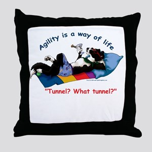 Agility shirt Throw Pillow