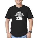 BBQ: I Like Pig Butts Men's Fitted T-Shirt (dark)
