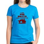 BBQ: I Like Pig Butts Women's Dark T-Shirt