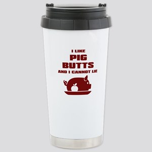 BBQ: I Like Pig Butts Stainless Steel Travel Mug