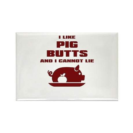 BBQ: I Like Pig Butts Rectangle Magnet