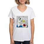 Monster Karate Women's V-Neck T-Shirt