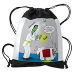 Monster Karate Drawstring Bag