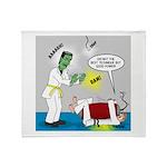 Monster Karate Throw Blanket