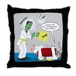 Monster Karate Throw Pillow