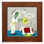 Monster Karate Framed Tile