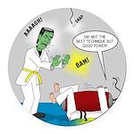 Monster Karate Round Car Magnet
