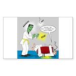 Monster Karate Sticker (Rectangle)