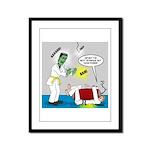 Monster Karate Framed Panel Print