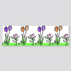 PASTEL TULIPS Bumper Sticker