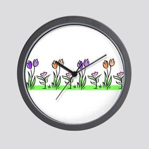 PASTEL TULIPS Wall Clock