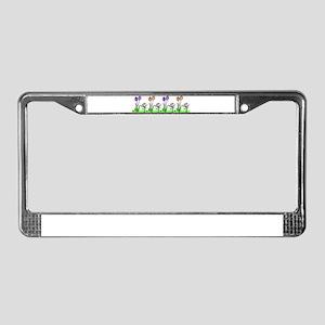 PASTEL TULIPS License Plate Frame