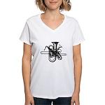 Brass & Sax Women's V-Neck T-Shirt