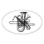 Brass & Sax Oval Sticker (10 pk)