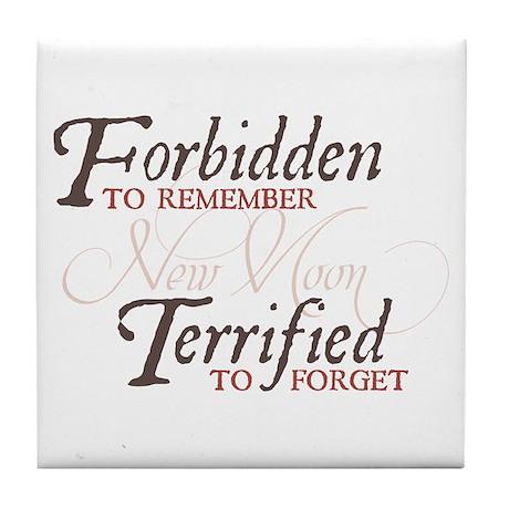 Forbidden to Remember Tile Coaster