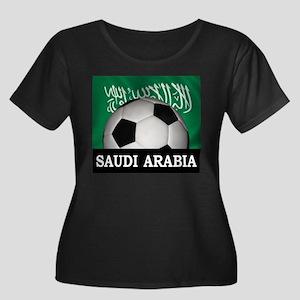 Football Saudi Arabia Women's Plus Size Scoop Neck