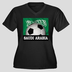 Football Saudi Arabia Women's Plus Size V-Neck Dar
